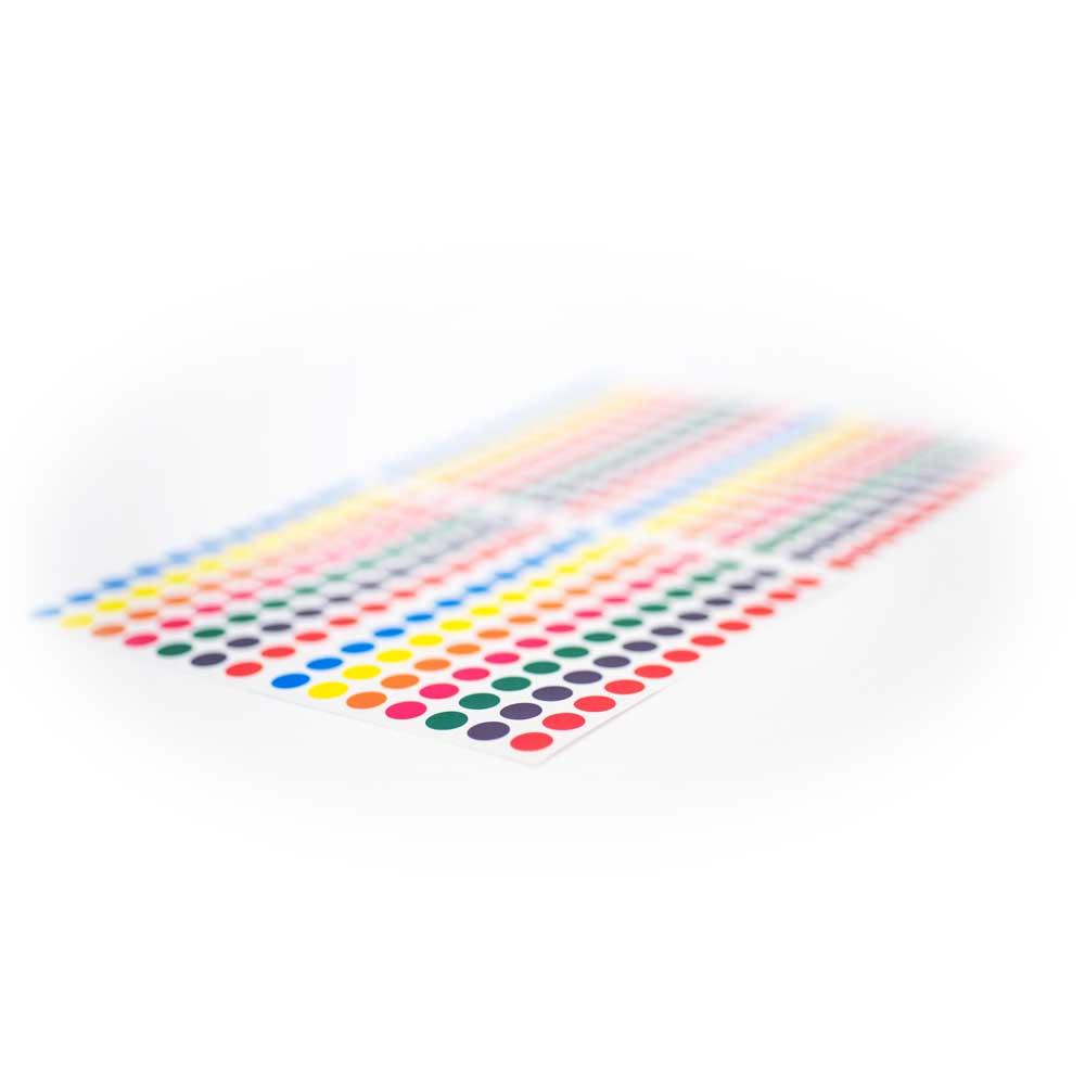 Pastilles de couleur autocoallantes - Fournitures de bureau